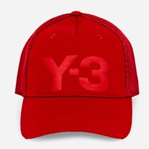 6b27178b279 Y-3 Rust Red Trucker Cap One Size Fits All